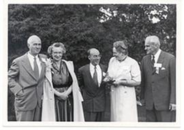 E.V and Alice Cowdry, Eugene P. Wigner, and Mrs. and Mr. Arthur Compton Hall.