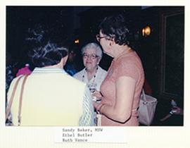 Sandy Baker, Ethel Butler, and Ruth Vance.