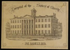 Matriculation card for L.J. Hall, Hospital of the Sisters of Charity, St. Louis, Missouri.
