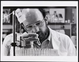 Jacques Baenzinger at work in a laboratory.