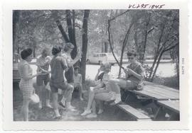 Scene from a Senior Picnic at Pere Marquette State Park, Washington University School of Medicine...