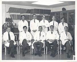 Group portrait of the Washington University School of Medicine Division of Neurological Surgery.