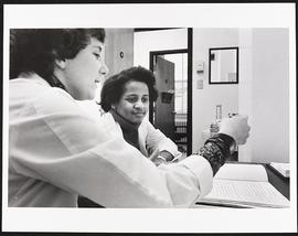 Dr. Ann Goldberg with fourth year student Blanche Watson, Department of Preventive Medicine, Wash...