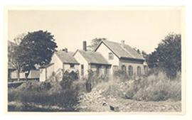 Exterior view of the Cowdry home, Woods Hole, Massachusetts.