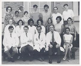 Group portrait of an unidentified department, Washington University School of Medicine.