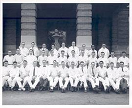 Unidentified group portrait, Washington University School of Medicine.