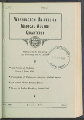 Washington University Medical Alumni Quarterly, July 1950