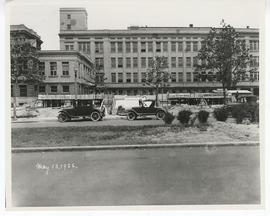 View of St. Louis Maternity Hospital under construction with the Washington University School of ...