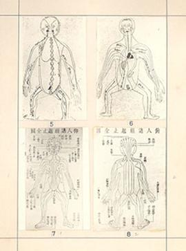 "Plate 2 from E.V. Cowdry's: ""A comparison of ancient Chinese anatomical charts with the 'Fun..."