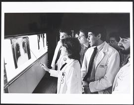 Dr. Dixie J. Aronberg with a group of students, Department of Radiology, Washington University Sc...