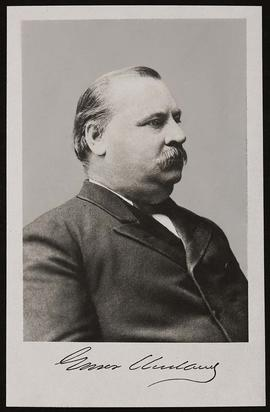 Studio portrait of Grover Cleveland.