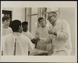 Dr. Richard Bunge with a group of first year students, Department of Anatomy, Washington Universi...