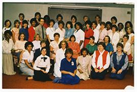 Group portrait of the Barnes Hospital Department of Social Work.