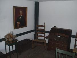 Interior view of the William Beaumont house, Lebanon, Connecticut.