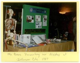 View of a Washington University School of Medicine, Program in Occupational Therapy booth, Jeffer...