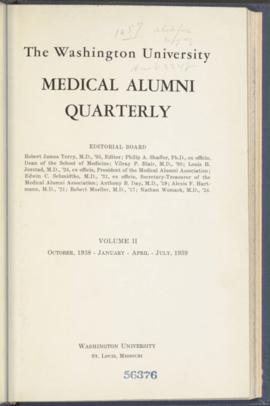 Washington University Medical Alumni Quarterly, October 1938