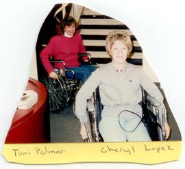 Toni Palmer and Cheryl Lopez using wheelchairs, Washington University School of Medicine, Program...