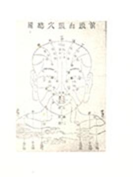 Chinese medical diagram of a face and head.