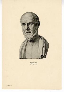 Drawing of a bust of Hippocrates.