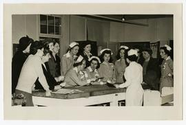 Group of women and nurses, Wakeman General and Convalescent Hospital, Camp Atterbury, Indiana.