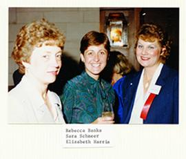 Group portrait of Rebecca Banks, Sara Schmeer, and Elizabeth Harris.