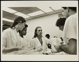 Dr. Jane Phillips-Conroy with a group of first year students, Department of Anatomy and Neurobiol...