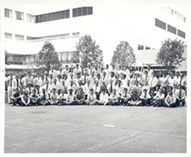 Group portrait of the Washington University School of Medicine Department of Pathology.