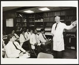 Dr. Charles Anderson giving a lecture, Department of Surgery, Washington University School of Med...