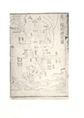 Chinese medical diagram of a leg and foot.