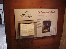 "View of a display of William Beaumont's book, ""Experiments and Observations on the Gastric J..."