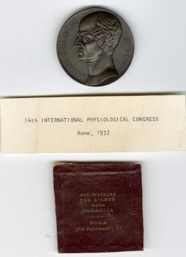 14th International Physiological Congress Medallion.