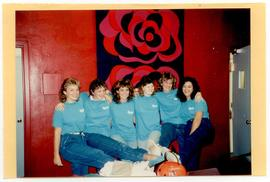 Group portrait of six Occupational Therapy students wearing matching t-shirts.