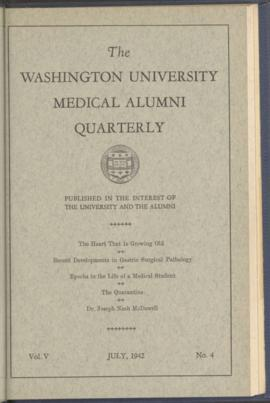 Washington University Medical Alumni Quarterly, July 1942