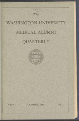 Washington University Medical Alumni Quarterly, October 1941