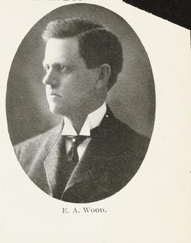 Studio portrait of Everett A. Wood.