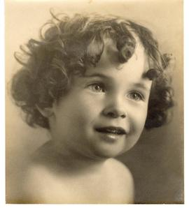 Portrait of Eleanor Ardel Vietti, about age 2.