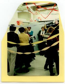 Scene from Margie Nowaltzke's birthday party, Washington University progam in Occupational Therapy.