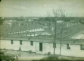 Exterior view of the Nurses' Quarters, temporary hospital ward, Fort Benning, Georgia.