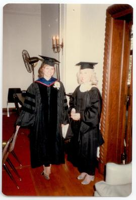 Portrait of two women in academic robes, Washington University School of Medicine, Program in Occ...