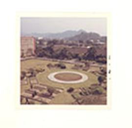 Overhead view of the grounds of the National Defense Medical Center, Taipei, Taiwan.