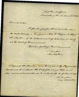 Special order from S. Cooper, Adjutant General's Office [Washington, DC] regarding: furlough gran...