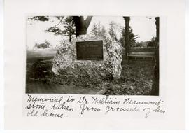 William Beaumont memorial plaque.