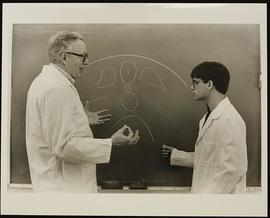 Dr. Richard Bunge with student Jeff Grills, Department of Anatomy, Washington University School o...