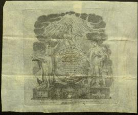 Certificate, Master Mason, from the Harmony Lodge Masons [Champlain, NY] to W. Beaumont. April 11...