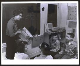 Young students in class, Central Institute for the Deaf, Washington University.