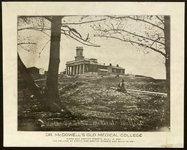 Exterior view of Dr. McDowell's Old Medical College.
