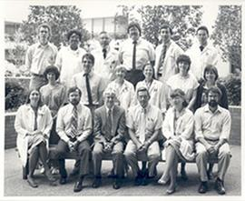 Group portrait of the Washington University School of Medicine Department of Surgical Pathology.