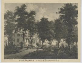 Painting depicting an exterior view of the Beaumont residence, Locust and Beaumont street, St. Lo...