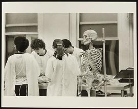 Dr. Glenn Conroy with a group of first year students, Department of Anatomy and Neurobiology, Was...