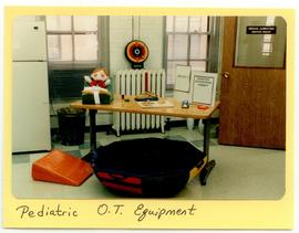 Diplay of pediatric equipment, Washington University School of Medicine, Program in Occupational ...